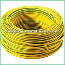 single core earth wire yellow/green power kabel