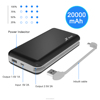 inbuilt cable high capacity phone charger battery pack 20000mah