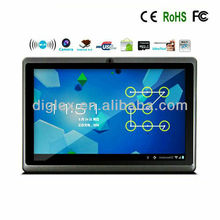 super slim 7'' android 4.0 tablet a13 tablet pc price china webcam wifi