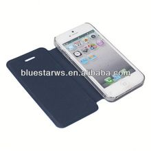 2014 new design for iphone5 wood grain holster filp leather case for iphone 5