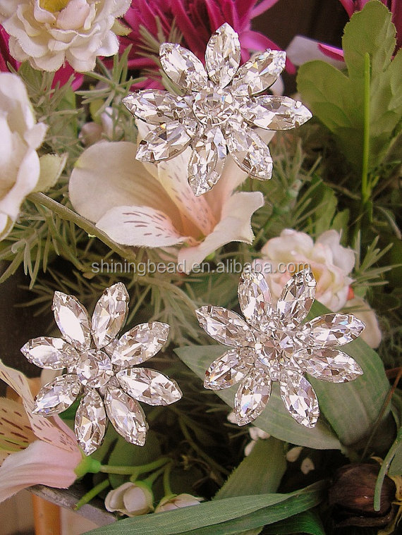 rhinestone brooch picks,brooch stems for making brooch bouquet