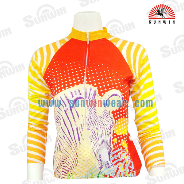 cycling clothing china factory / custom girls cycling jerseys cute fashionable design