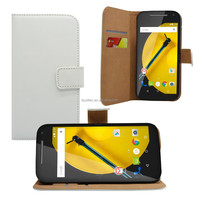 Hot sale pu leather wallet case book style cover for MOTO E