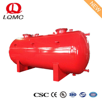 Single layer double compartment portable round fuel steel tank