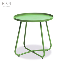 Colorful iron flower table modern corner table in KD structure