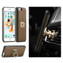 For iPhone 6 Plus Housing, Leather Flip Cover For Apple iPhone 6 plus, PU Leather Wallet Case for iphone 6 plus TPU