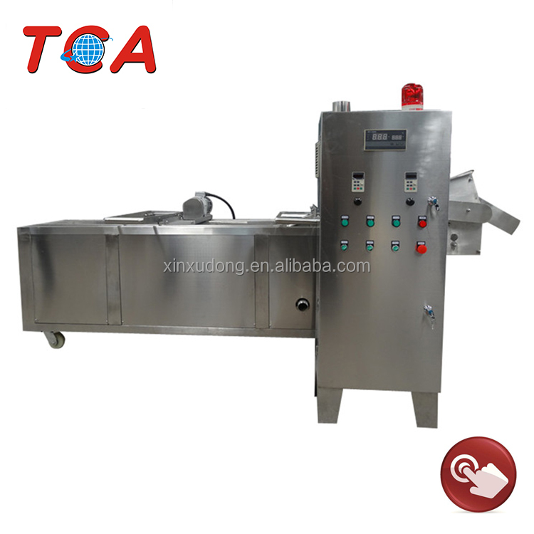 manual lift electric continuous conveyor fryer