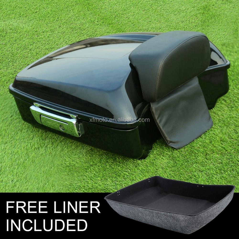 Chopped Tour Pak Trunk Backrest Pad For Harley Touring Street Glide FLHX 14-17