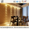 gilding glitter sequin flower linen deep embossing heavy thick waterproof home 3D design vinyl PVC wall paper