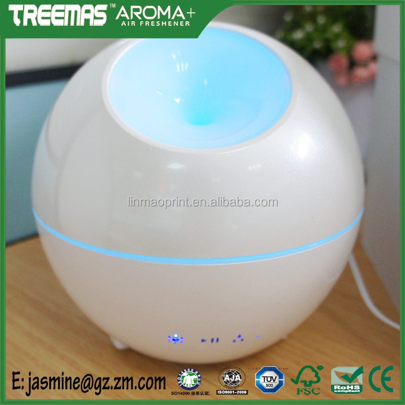 Alarm Clock 400ml Ultrasonic Air Purifier Humidifier Essential Oil Aroma Diffuser