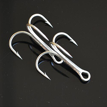 2#-8# High Carbon Stainless Steel Treble Fishing Swivel Hooks