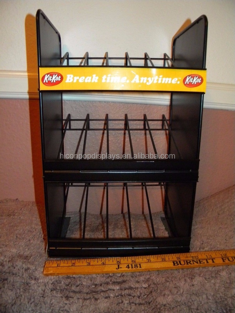 Counter Top Black Wire Confectionery Store 3-Tier Commercial Fun Candy Cookies Display Stands