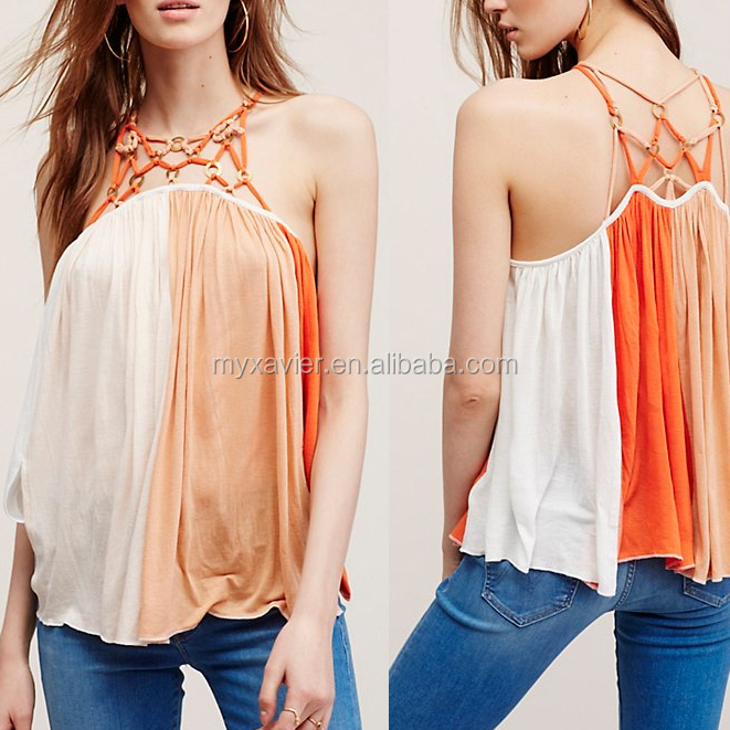 Latest High quality fashion style magical pattern tank top for women magic girl top