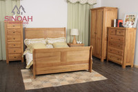 2015 Wood Bedroom furniture EL range solid oak 3 door wardrobe (EL3HR)