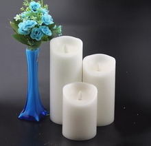 electronic wax candle light moving wick dancing candle
