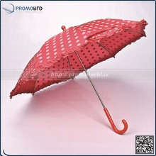 Promotion CMYK full printing red dot lace mini kid fancy umbrella