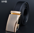 Wholesale Split Leather Belts Automatic Buckle Leather Belt Strap