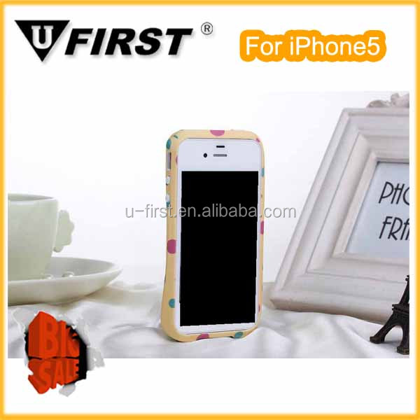 Professional factory plastic bumper for iphone5/5s case