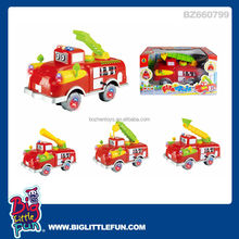Battery operated toy fire truck with music and light