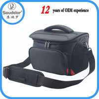 Deluxe Quality, Shock-Absorbing & Water-Resistant Shoulder / Messenger camera Bag in Black
