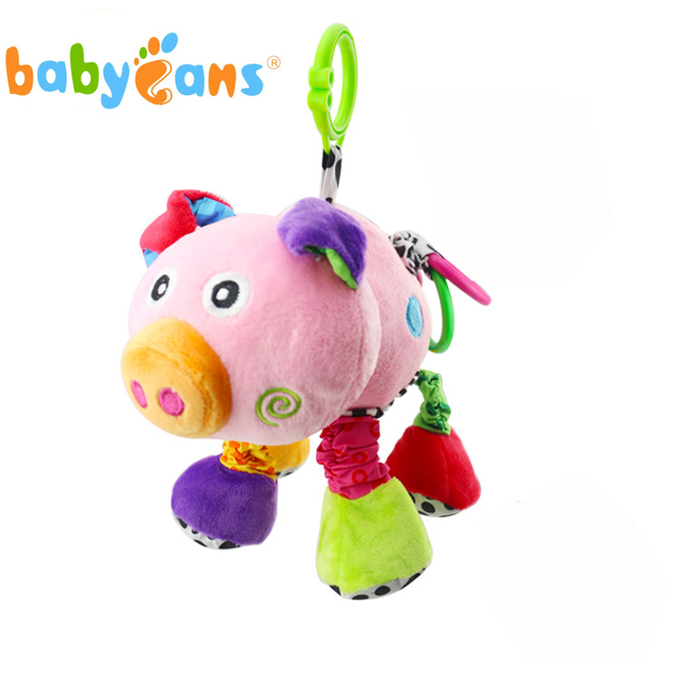 Babyfans five star toys baby soft plush pig baby musical hanging toy