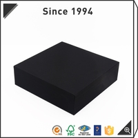 logo printing black and white base and lid gift box with drawer for power bank