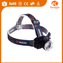 Stepless Dimming Zoomable Led 3 Modes 1800Lm Bicycle Running Headlamp