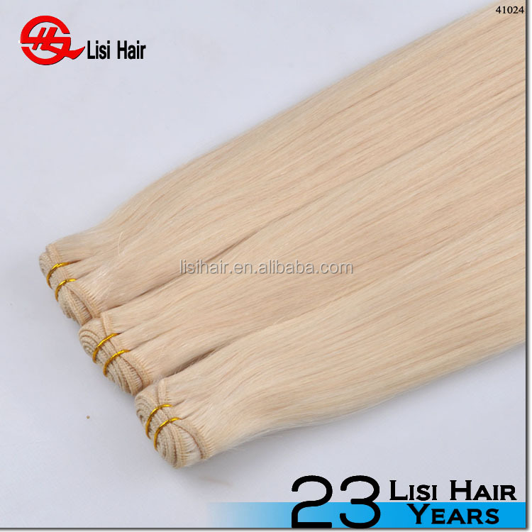 Tangle Free Direct Factory Wholesale Price No Chemical pure white hair extensions