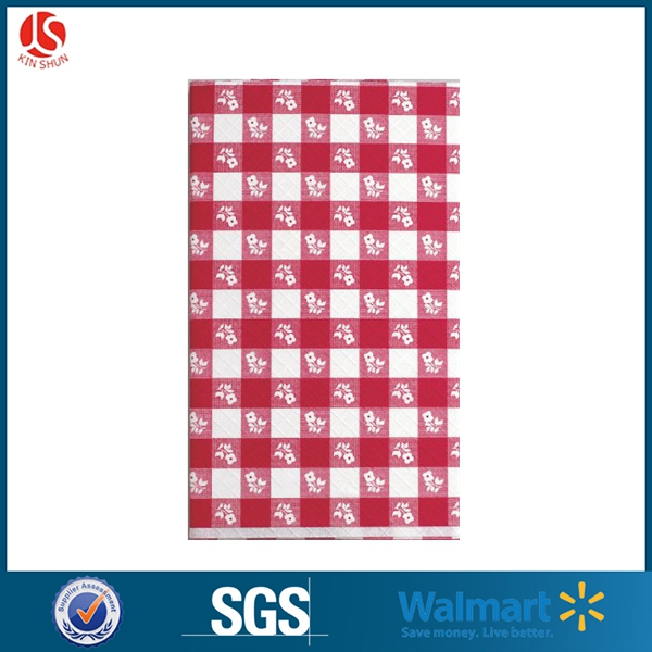 Eco-Friendly Birthday party plastic tablecloth / printed plastic table cover PE printed tablecloth