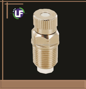 Ceramic/nickel-coating brass body fogging nozzle