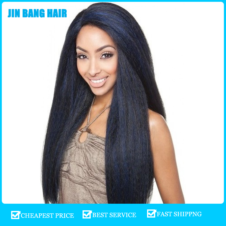 Hot selling star model Yaki long sexy Synthetic Wig Afro Curly Natural Wigs for black women