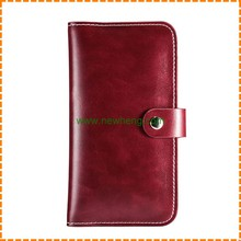 New Fashion mobile Phone Wallets for iPhone 6 Plus Purse Crazy Horse Leather case