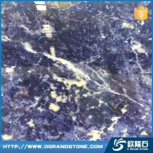 Countertop Natural Polished Exotic Sodalite Blue granite slab