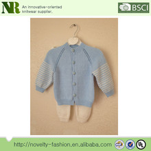 Baby Boy Set,Baby Cardigan and Pants,Blue and White Hand Knitted Sweater