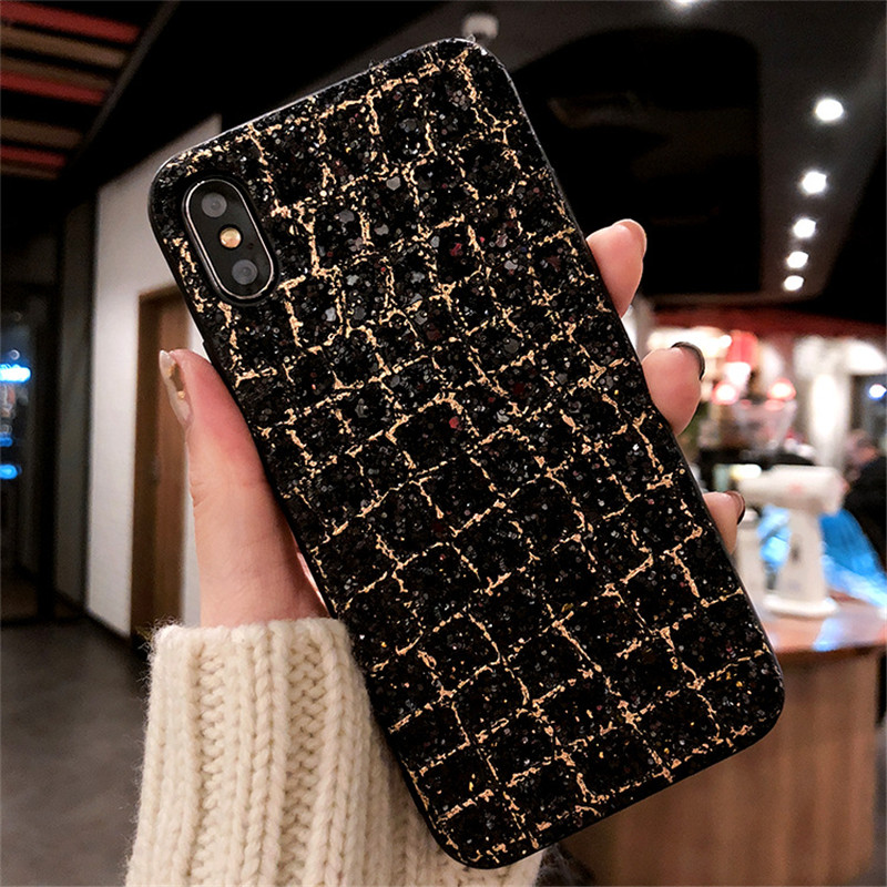 Luxury diamond rhinestone glitter back cover phone case For iPhone X 8 7 5 6 6s plus Samsung s8 note 8 cases OPPO R9S/R11/R11