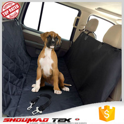 wholesale black waterproof 100% poly pet seat cover