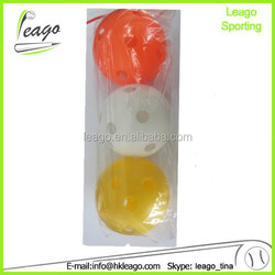 different color plastic wiffle baseball ball