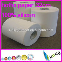 2014 New!Wholesale Highest Quality 100% silicone 32cm Iron On Hot Fix Rhinestone Mylar Tape/Paper hotfix transfer paper