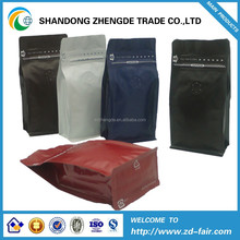 China manufacturer PET/VMPET/PE heat seal customized 12 colors side gusset coffee packaging bag with valve and tear notch
