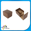 2016 customized high quality special open chocolate brown single watch paper box