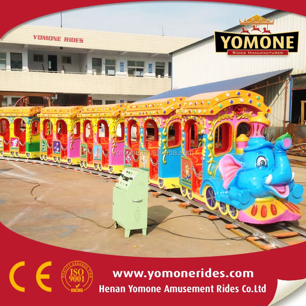 Lovely rides!!! indoor or outdoor electric kids playground amusement track train rides for sale