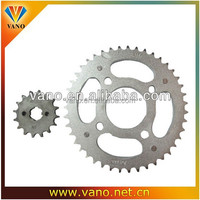 China wholesale YBR125 motorcycle roller chain sprockets