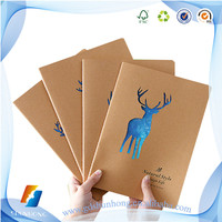 2018 New design cheap custom brown kraft paper notebooks with high quality