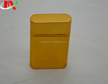 Vintage luxury printed square thin electronical cigarettes case Fancy cigar aluminum tin can box
