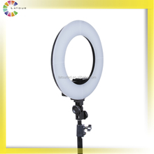 Best design bi color ring light led photography with didgital display screen and dimmer HD-14S
