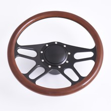 Hot Selling 14inch Billet Aluminum Steering Wheel with Horn Button Adapter
