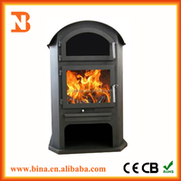 Real fireplace wood burning heater with door