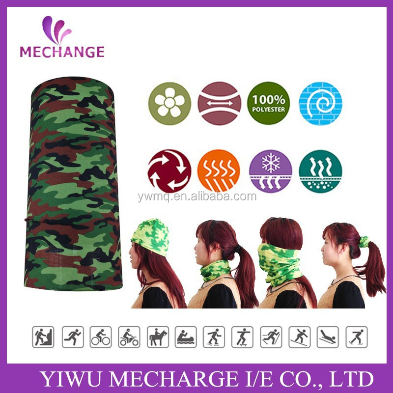 Wholesale Alibaba Fashion Sports Seamless Camouflage Bandana Headwear
