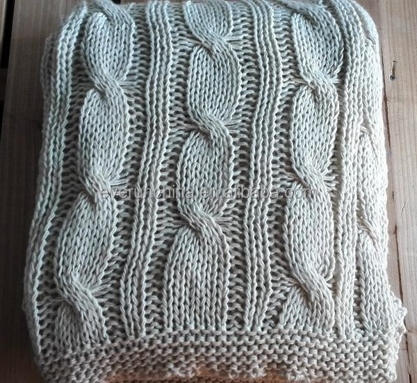 50DB40 cable knit fabric sweater fabric blanket oversized knit blanket