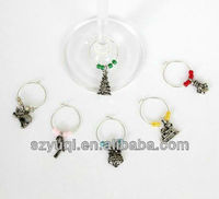custom name and decoration wine glass charms